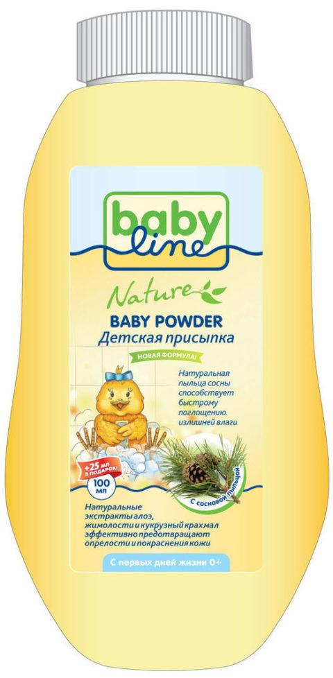 BABYLINE NATURE Детская присыпка с сосновой пыльцой 100г+ 25% в подарок