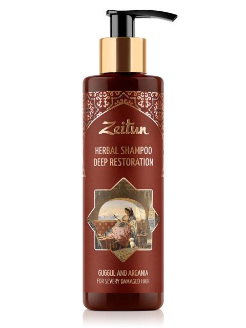 Глубоко восстанавливающий фито-шампунь Zeitun для сильно поврежденных волос. С арабским миртом и арганой