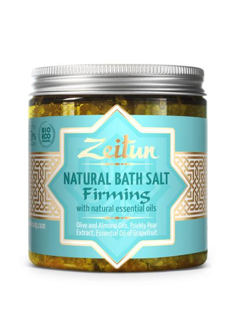 ZEITUN Ароматическая соль для ванн для подтяжки кожи с экстрактом опунции и маслом грейпфрута 250 мл
