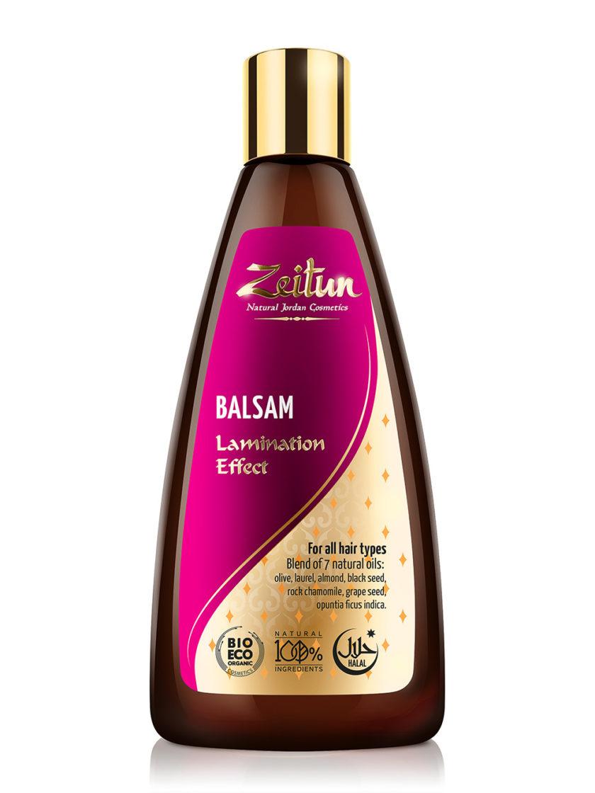 """ZEITUN Бальзам """"Эффект ламинирования"""" для тонких и хрупких волос. Смесь 7 натуральных масел 250 мл"""