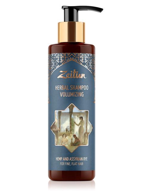 ZEITUN Фито-шампунь для густоты и объема волос с коноплей и ассирийской рожью 200мл