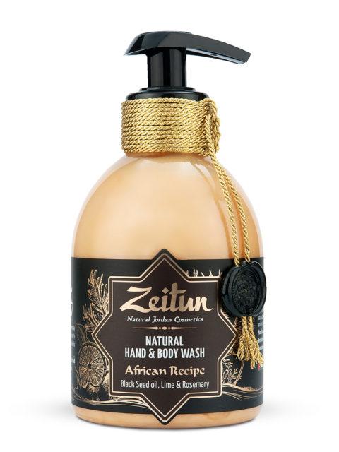 """ZEITUN Крем-мыло для рук и тела """"Африканский купаж"""": черный тмин и лайм  300 мл"""