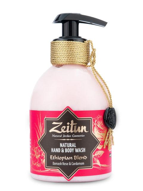 """ZEITUN Крем-мыло для рук и тела """"Эфиопский купаж"""": дамасская роза и кардамон 300 мл"""