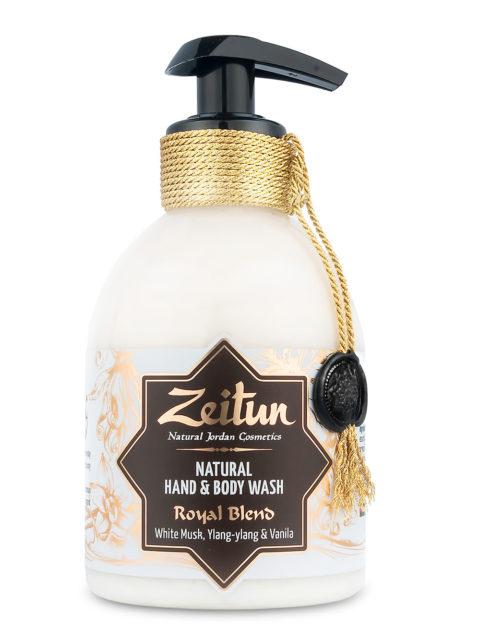"""ZEITUN Крем-мыло для рук и тела """"Королевский купаж"""": мускус и ваниль 300 мл"""