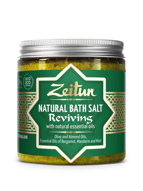 ZEITUN Тонизирующая ароматическая соль для ванн с маслами бергамота