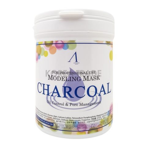 Anskin Modeling Mask Charcoal Oil Control & Pore Management Альгинатная маска с древесным углем