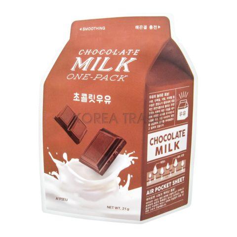 A'Pieu Chocolate Milk One-Pack Смягчающая маска с экстрактом какао и сливы