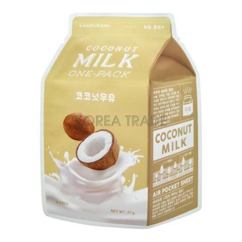 A'Pieu Coconut Milk One-Pack Увлажняющая маска с экстрактом кокоса