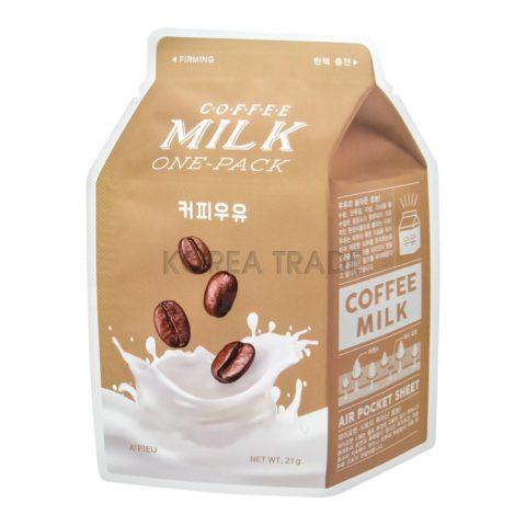 A'Pieu Coffee Milk One-Pack Укрепляющая маска с экстрактом кофе и коллагеном