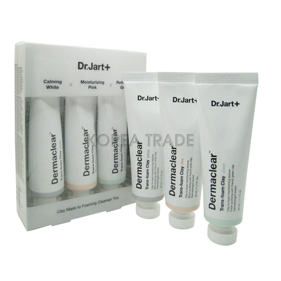 Dr.Jart+ Dermaclear Trans-Foam Clay Trio Набор очищающих глиняных масок