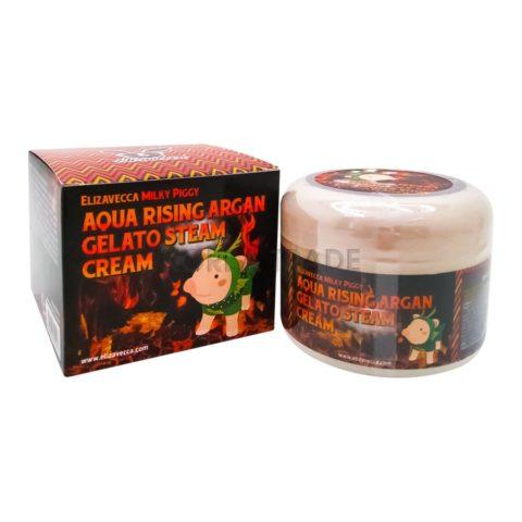 Elizavecca Milky Piggy Aqua Rising Argan Gelato Steam Cream Паровой увлажняющий крем с маслом арганы