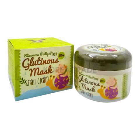 Elizavecca Milky Piggy Glutinous 80% Mask Snail Cream Крем-маска с муцином улитки