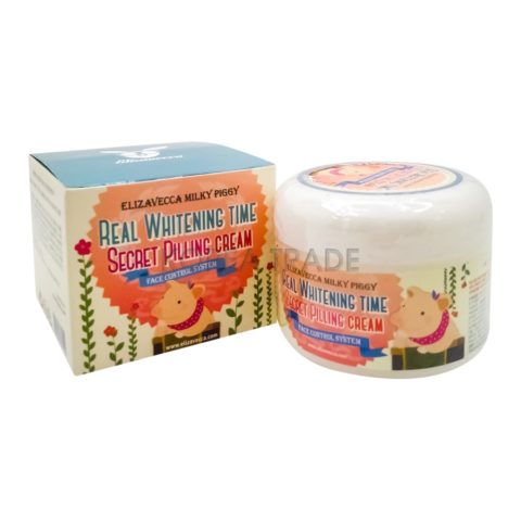 Elizavecca Milky Piggy Real Whitening Time Secret Pilling Cream Осветляющий крем с эффектом пилинга