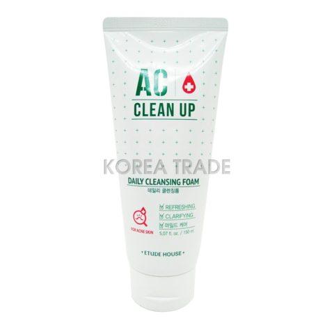 Etude House AC Clean Up Daily Cleansing Foam Пенка для умывания для проблемной кожи с акне