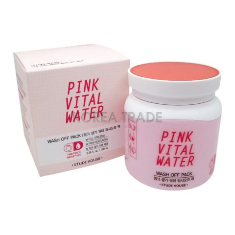 Etude House Pink Vital Water Wash Off Pack Маска для лица с экстрактом персика