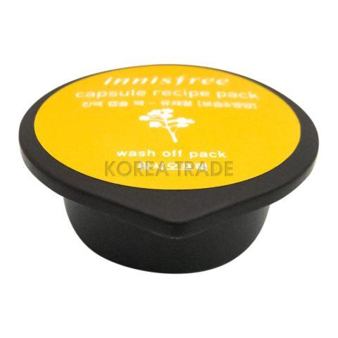 Innisfree Сapsule Recipe Pack Canola Honey Капсульная маска для лица с экстрактом рапсового меда