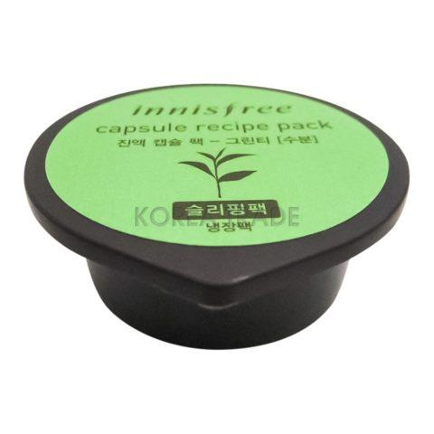 Innisfree Сapsule Recipe Pack Green Tea Капсульная маска для лица с экстрактом зеленого чая