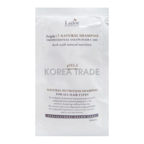 La'dor Triplex Natural Shampoo Pouch Органический шампунь с экстрактами и эфирными маслами 10мл