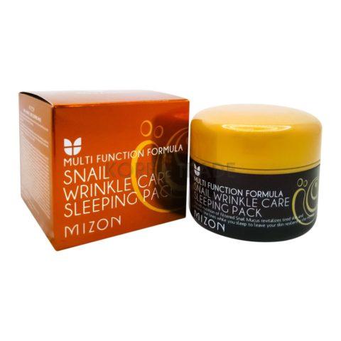 MIZON Snail Wrinkle Care Sleeping Pack Ночная маска c экстрактом улитки