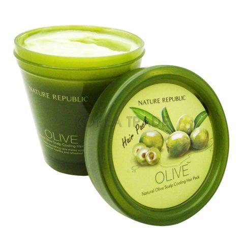 Nature Republic Natural Olive Scalp Cooling Hair Pack Охлаждающая маска для кожи головы и волос