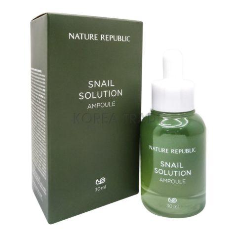 Nature Republic Snail Solution Ampoule Ампульная эссенция с экстрактом муцина улитки