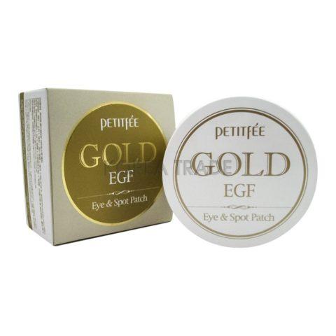 Petitfee Gold & EGF Eye•Spot Patch Гидрогелевые патчи для кожи вокруг глаз с золотом