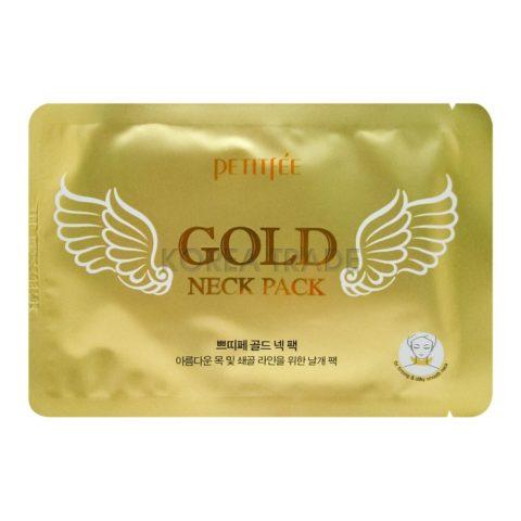 Petitfee Gold Neck Pack Гидрогелевые патчи с золотом для шеи