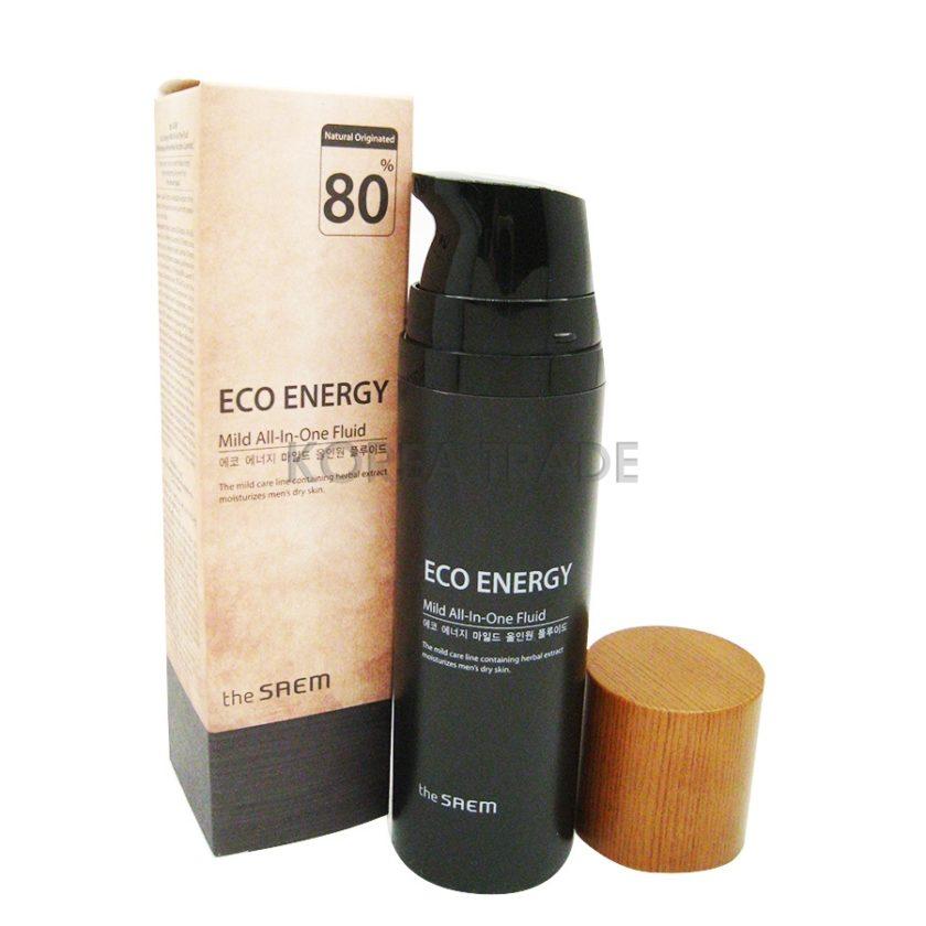 Saem Eco Energy Mild All-in-One Fluid Флюид для мужчин с гиалуроновой кислотой