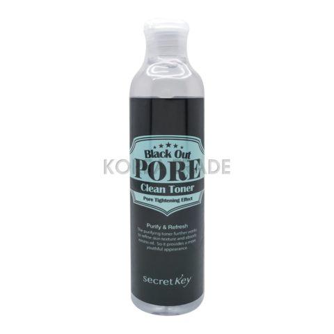 Secret Key Black Out Pore Clean Toner Тонер с древесным углем для очищения и сужения пор
