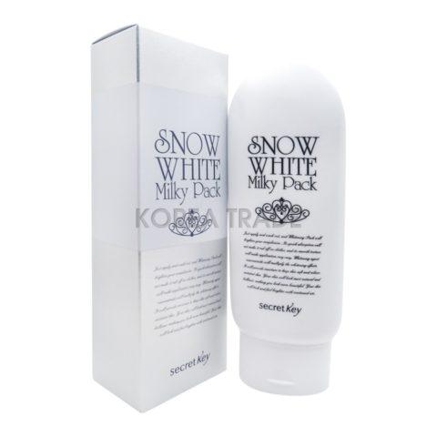 Secret Key Snow White Milky Pack Отбеливающая маска для лица и тела
