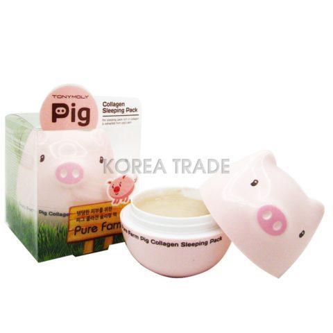 TONY MOLY Pure Farm Pig Collagen Sleeping Pack Антивозрастная ночная маска на основе коллагена